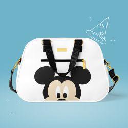Bolsa Maternidade Mickey Mouse Branco e Preto 44cm
