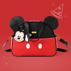 Bolsa Maternidade Mickey Mouse Vermelho e Preto 34cm