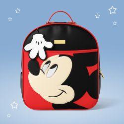 Mochila Maternidade Mickey Mouse Preto e Vermelho 36cm