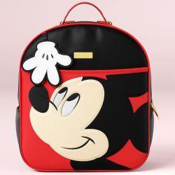 Mochila Maternidade Mickey Mouse Preto e Vermelho 38cm