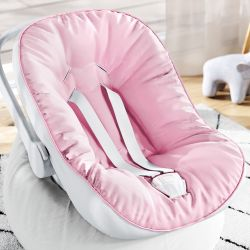 Capa de Bebê Conforto com Protetor de Cinto Rosa