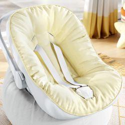 Capa de Bebê Conforto com Protetor de Cinto Amarelo