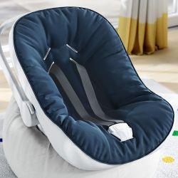 Capa de Bebê Conforto com Protetor de Cinto Azul Marinho