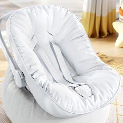 Capa de Bebê Conforto com Protetor de Cinto Branco
