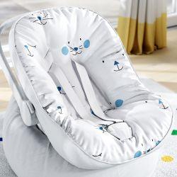 Capa de Bebê Conforto com Protetor de Cinto Azul Amiguinhos