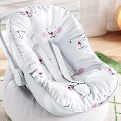 Capa de Bebê Conforto com Protetor de Cinto Amiguinhas Rosa