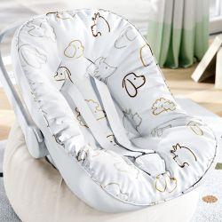 Capa de Bebê Conforto com Protetor de Cinto Cachorrinhos
