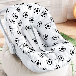 Capa de Bebê Conforto com Protetor de Cinto Futebol