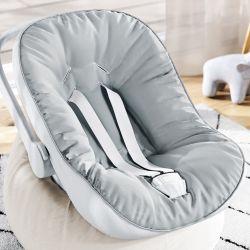 Capa de Bebê Conforto com Protetor de Cinto Cinza