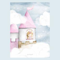 Pôster Adesivo Princesa na Torre