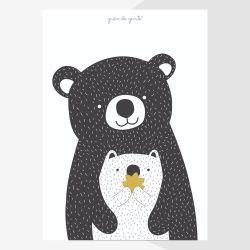 Pôster Adesivo Mamãe Ursa