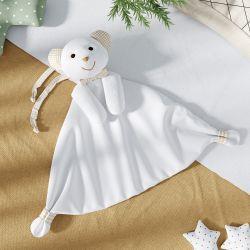 Naninha de Bebê Ursinho Branco