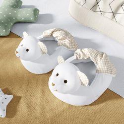 Pantufa de Bebê Ursinho Branco