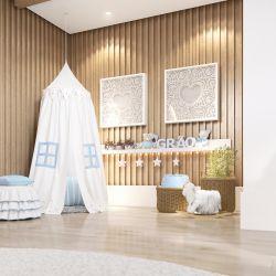 Tenda Dossel Estrelinhas Branco e Azul Clássico 2M