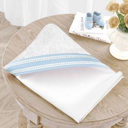 Toalha com Capuz Azul Clássico