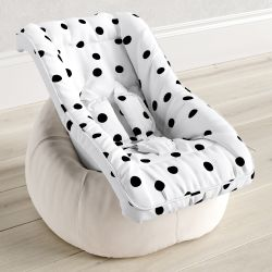 Capa de Bebê Conforto com Protetor de Cinto Maxi Poá Preto