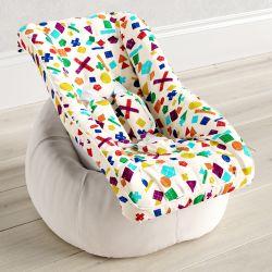 Capa de Bebê Conforto com Protetor de Cinto Geométrico Fun