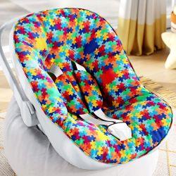 Capa de Bebê Conforto com Protetor de Cinto Quebra-Cabeça