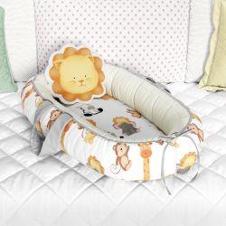Ninho para Bebê Redutor de Berço Safári Aquarela 80cm