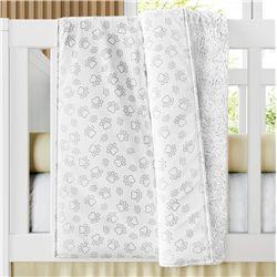 Cobertor Dupla Face com Soft Patinhas Safári 1M