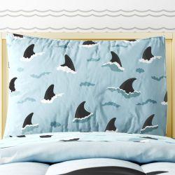 Fronha de Travesseiro Infantil Fundo do Mar Azul