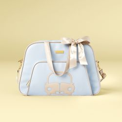 Bolsa Maternidade Carrinhos Azul Bebê 45cm