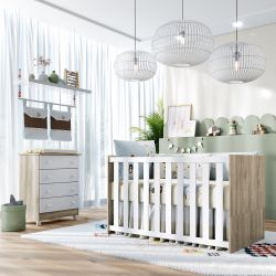 Quarto de Bebê Berço Madeira + Cômoda Meli