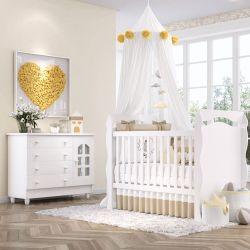 Quarto de Bebê Julie com Berço/Cômoda com Colchão