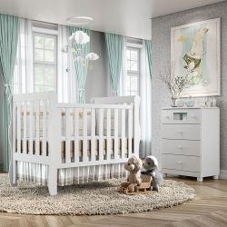 Quarto de Bebê Mila com Berço/Cômoda com Colchão