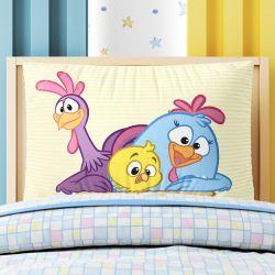 Capa de Travesseiro Infantil Turma da Galinha Pintadinha