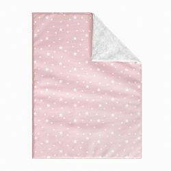 Cobertor Dupla Face com Soft Estrelinhas Rosa 1M