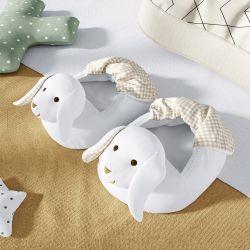 Pantufa de Bebê Coelhinho Branco