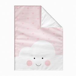 Cobertor Dupla Face com Soft Amiguinha Nuvem Rosa 1M