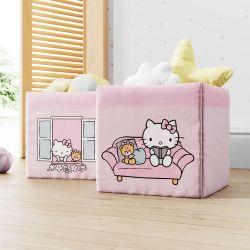 Cestas Organizadoras para Brinquedos Hello Kitty 2 Peças