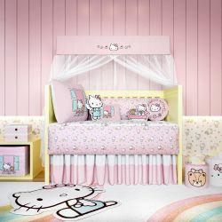 Quarto de Bebê Hello Kitty Rosa 16 Peças