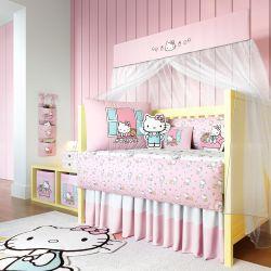 Quarto de Bebê Hello Kitty Rosa 22 Peças