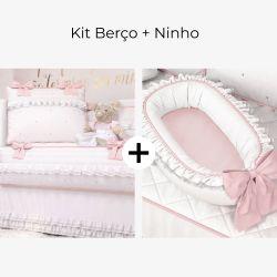Kit Berço Princesa Clássica + Ninho para Bebê Redutor de Berço Princesa Clássica