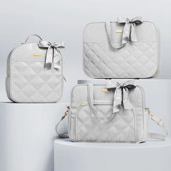 Kit Bolsas Maternidade Cinza Luxo 03 Pçeças