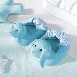 Pantufa de Bebê Coelhinho Azul