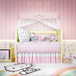 Quarto de Bebê Hello Kitty 16 Peças