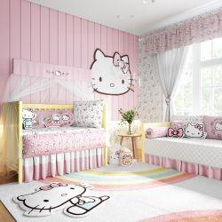 Quarto de Bebê Hello Kitty 38 Peças