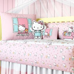 Kit Berço Hello Kitty Rosa