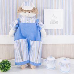 Porta Fraldas Boneco Azul Listrado