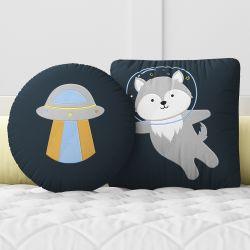 Almofadas Lobinho Astronauta 2 peças
