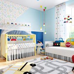 Quarto de Bebê Amiguinhos Carrinhos Coloridos 30 Peças