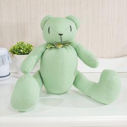 Urso Verde Poá Laços 40cm