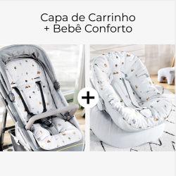Capa de Carrinho + Capa de Bebê Conforto com Protetor de Cinto Savana Baby
