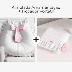 Almofada Amamentação Princesa Clássica + Trocador de Fraldas Portátil Princesa Clássica