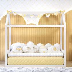 Quarto de Bebê Montessoriano Chuva de Amor Amarelo