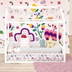 Quarto de Bebê Montessoriano Floral Moderna